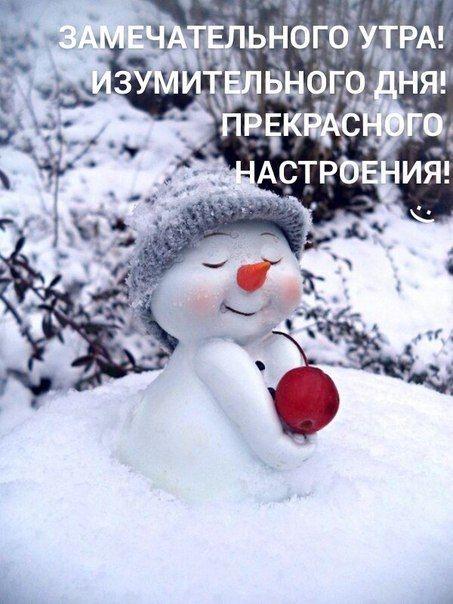 Красивые картинки с добрым снежным утром (2)
