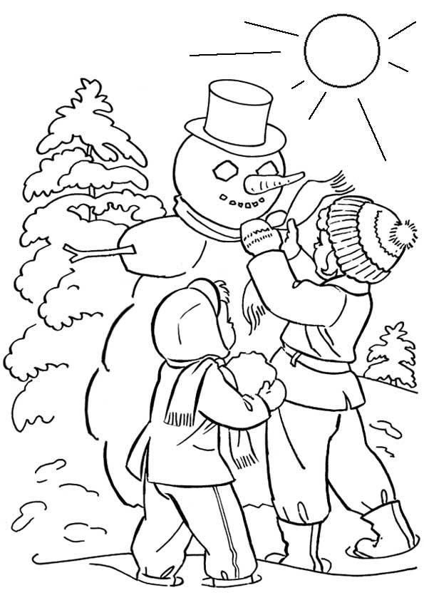 Красивые рисунки зимы для детей карандашом (13)