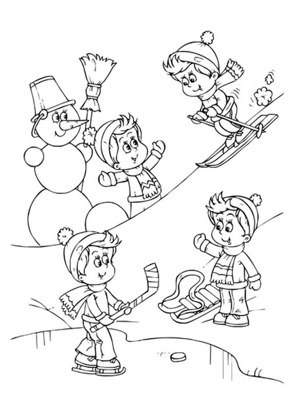 Красивые рисунки зимы для детей карандашом (15)