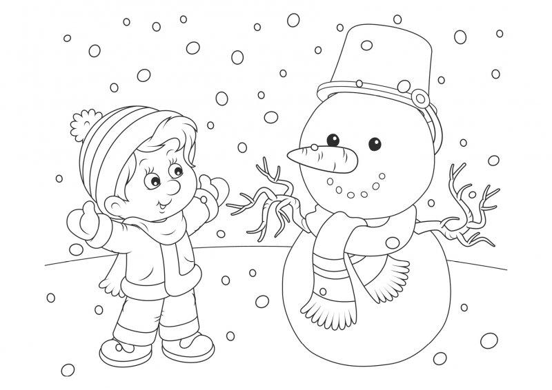 Красивые рисунки зимы для детей карандашом (16)