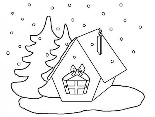 Красивые рисунки зимы для детей карандашом (23)