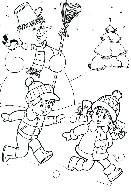 Красивые рисунки зимы для детей карандашом (29)