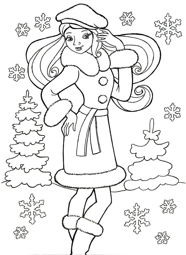 Красивые рисунки зимы для детей карандашом (3)