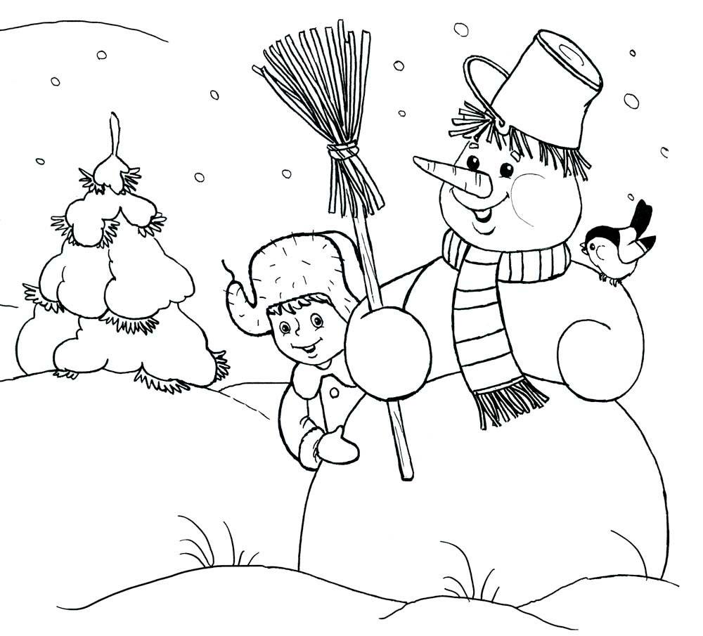 Красивые рисунки зимы для детей карандашом (6)