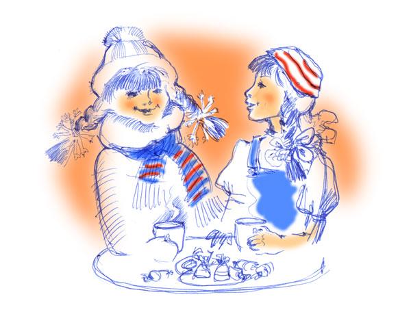 Красивый рисунок на тему встреча зимы (12)