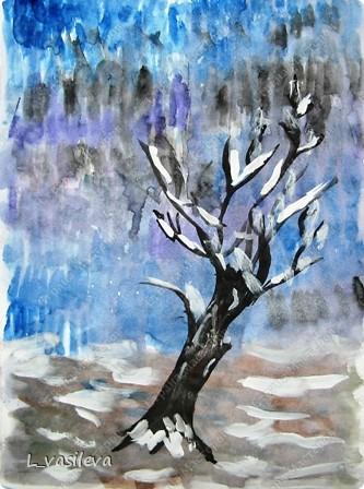 Красивый рисунок на тему встреча зимы (13)