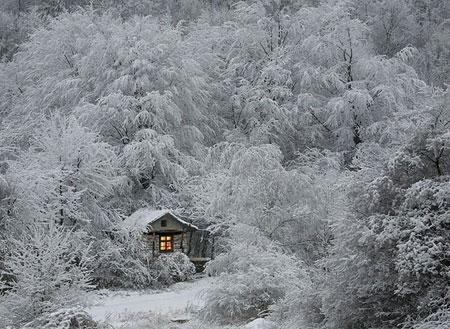 Красивый рисунок на тему встреча зимы (16)