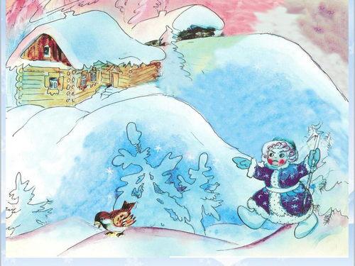 Красивый рисунок на тему встреча зимы (18)