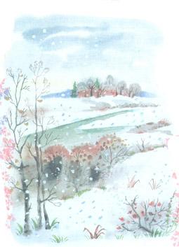 Красивый рисунок на тему встреча зимы (19)