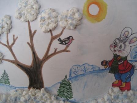 Красивый рисунок на тему встреча зимы (21)