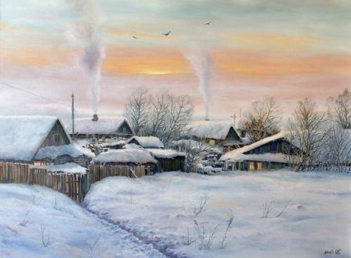 Красивый рисунок на тему встреча зимы (24)