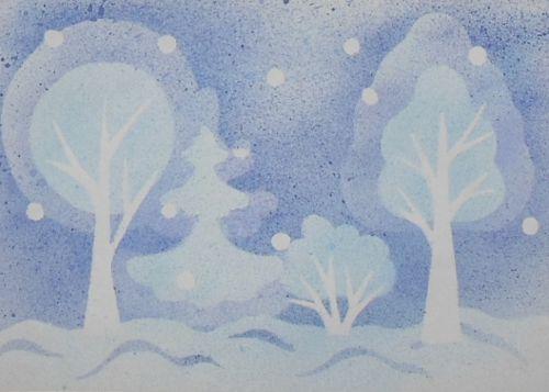 Красивый рисунок на тему встреча зимы (25)