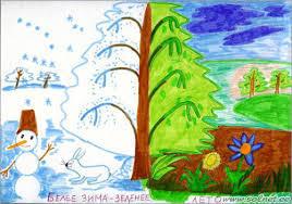 Красивый рисунок на тему встреча зимы (26)