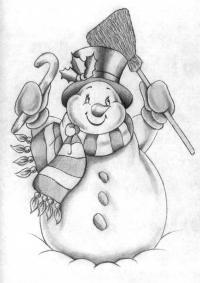 Красивый рисунок на тему встреча зимы (27)