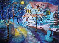 Красивый рисунок на тему встреча зимы (28)