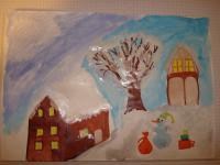 Красивый рисунок на тему встреча зимы (29)