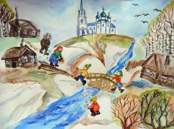 Красивый рисунок на тему встреча зимы (31)
