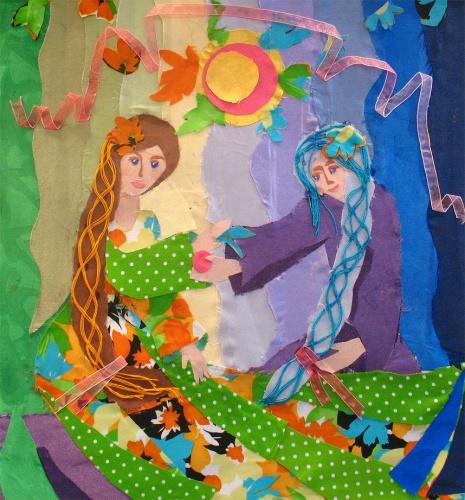 Красивый рисунок на тему встреча зимы (5)