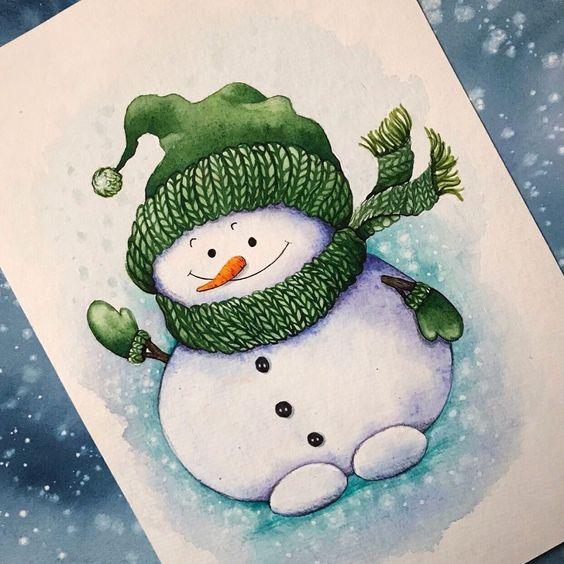 Рисунки зимы для детей 3 класса (10)