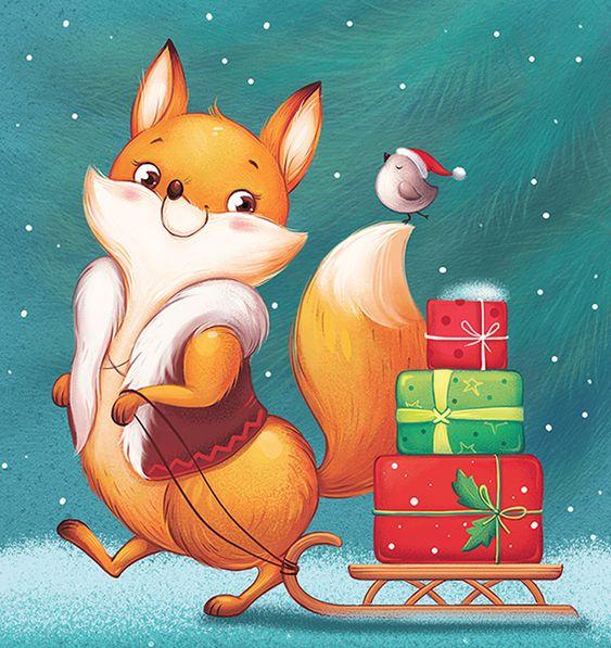 Рисунки зимы для детей 3 класса (11)