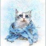Рисунки зимы для детей 3 класса