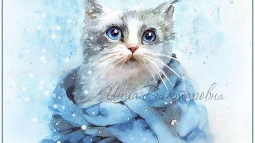 Рисунки зимы для детей 3 класса (13)