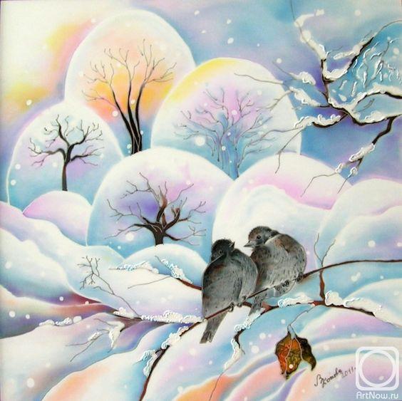 Рисунки зимы для детей 3 класса (15)