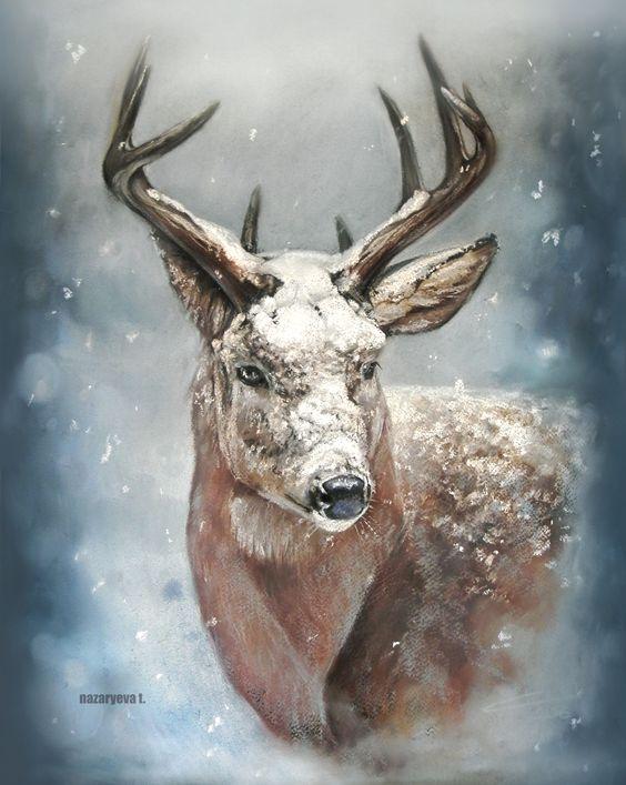 Рисунки зимы для детей 3 класса (18)