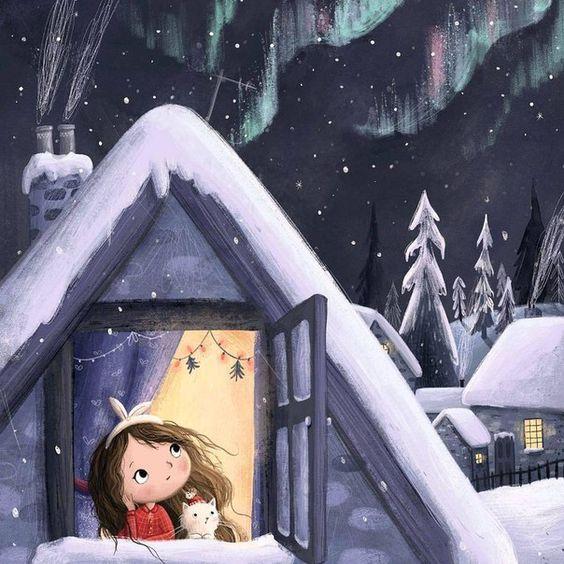 Рисунки зимы для детей 3 класса (19)