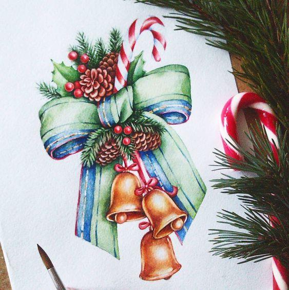 Рисунки зимы для детей 3 класса (20)