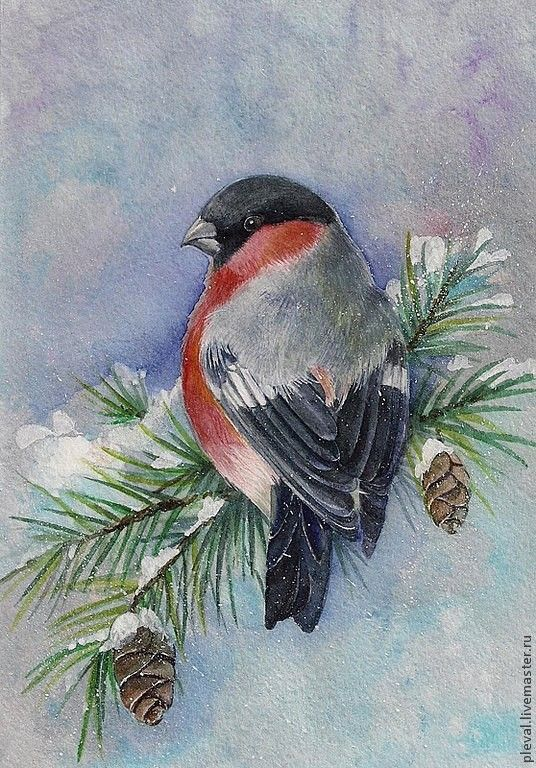 Рисунки зимы для детей 3 класса (4)