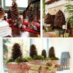 Украшение дома к новому году — декор с шишками