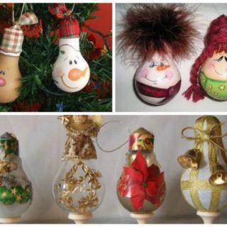 7 необычных вариантов елочных игрушек своими руками (4)