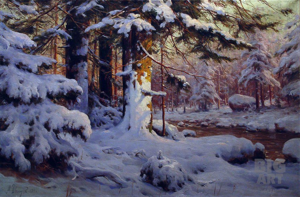 Зимний лес красивые обои для рабочего стола (2)