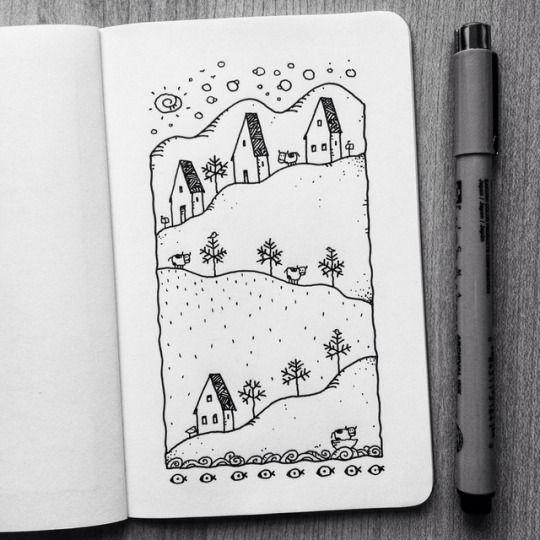 Красивые рисунки маркером для срисовки (13)