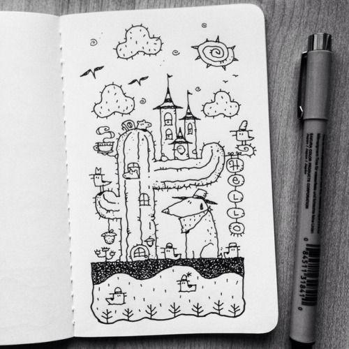 Красивые рисунки маркером для срисовки (18)