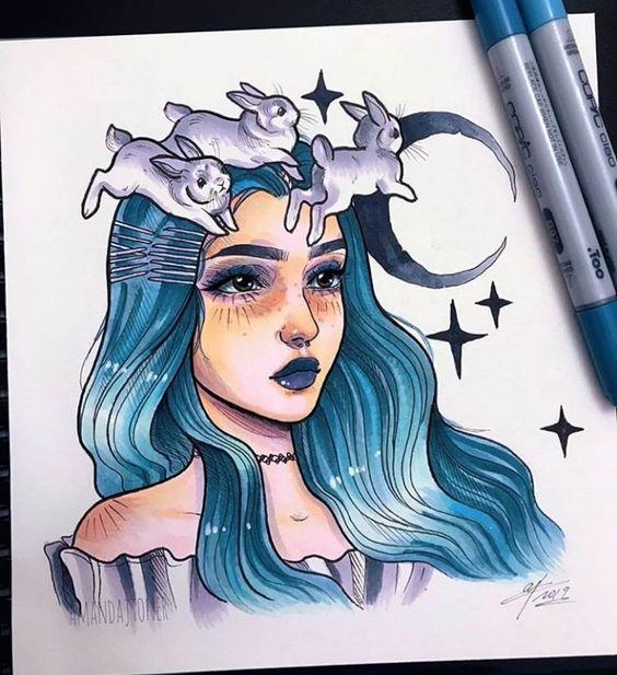 Красивые рисунки маркером для срисовки (24)