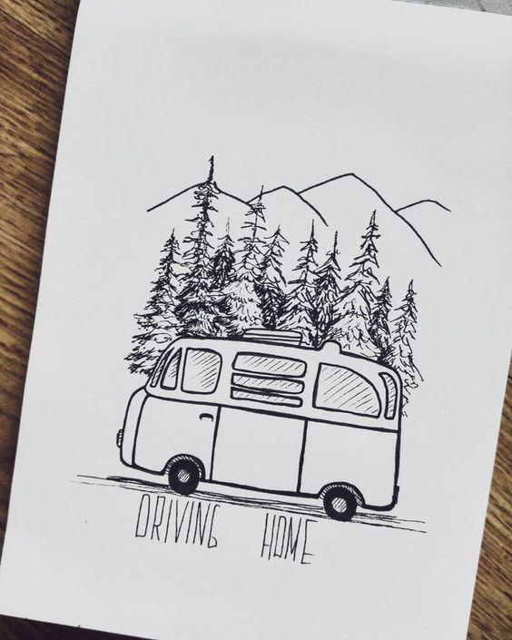 Красивые рисунки маркером для срисовки (3)