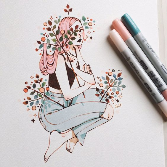 Красивые рисунки маркером для срисовки (31)