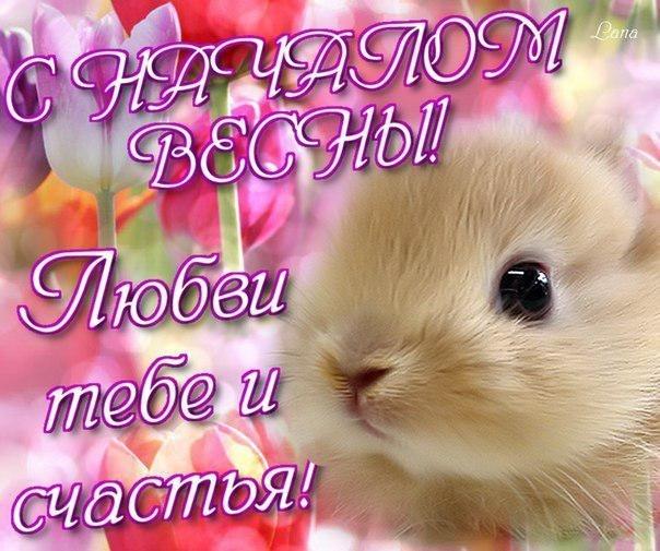 Картинки на 1 день весны - милые поздравления для близких (3)