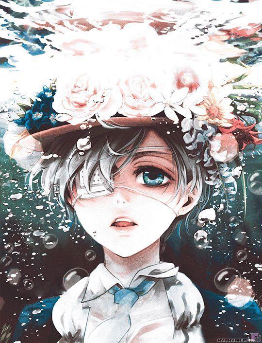 Красивые картинки и арты аниме парня с повязкой на глазу (11)
