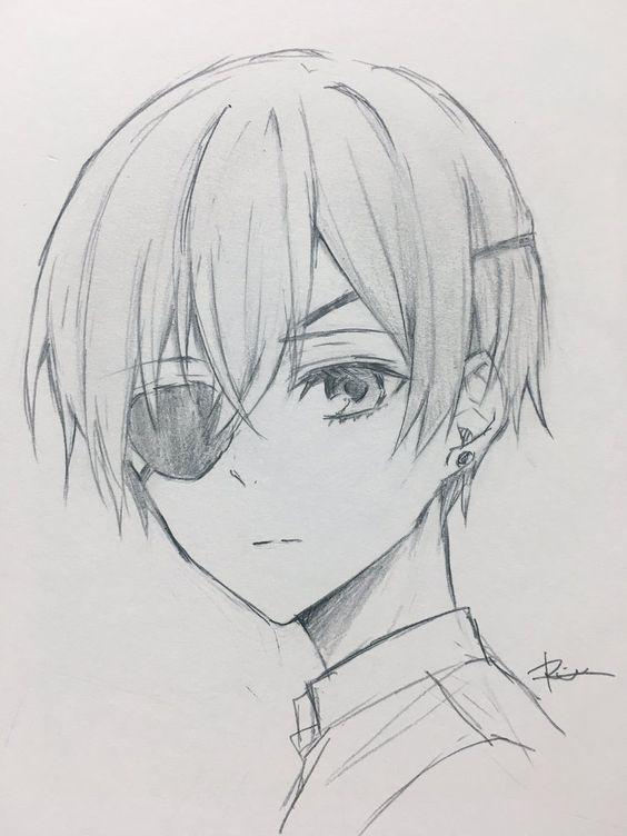Красивые картинки и арты аниме парня с повязкой на глазу (14)