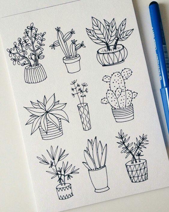 Красивые рисунки цветов для срисовки в свой дневник - 40 лучших идей (11)