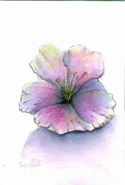 Красивые рисунки цветов для срисовки в свой дневник - 40 лучших идей (14)