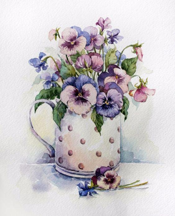 Красивые рисунки цветов для срисовки в свой дневник - 40 лучших идей (16)