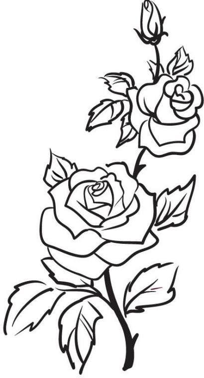Красивые рисунки цветов для срисовки в свой дневник - 40 лучших идей (19)