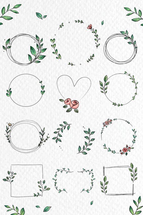 Красивые рисунки цветов для срисовки в свой дневник - 40 лучших идей (2)