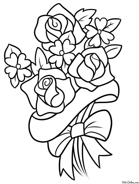 Красивые рисунки цветов для срисовки в свой дневник - 40 лучших идей (23)