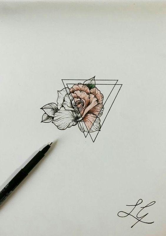 Красивые рисунки цветов для срисовки в свой дневник - 40 лучших идей (26)