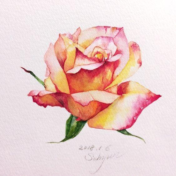 Красивые рисунки цветов для срисовки в свой дневник - 40 лучших идей (29)